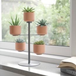 Подставка для цветов Terrapotta с горшками 5 шт. titanium