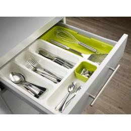 Органайзер для столовых приборов DrawerStore™ раздвижной серый
