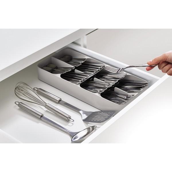 Набор из органайзера для столовых приборов DrawerStore Large и органайзера для ножей DrawerStore