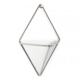 Декор для стен Trigg маленький белый-никель