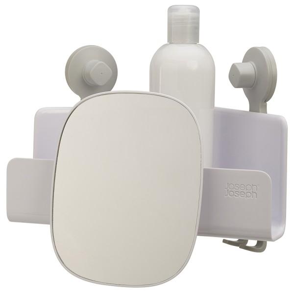 Органайзер для душа с зеркалом EasyStore угловой белый