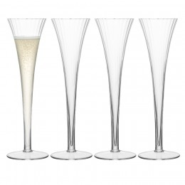 Набор из 4 бокалов-флейт для шампанского LSA Aurelia 200 мл