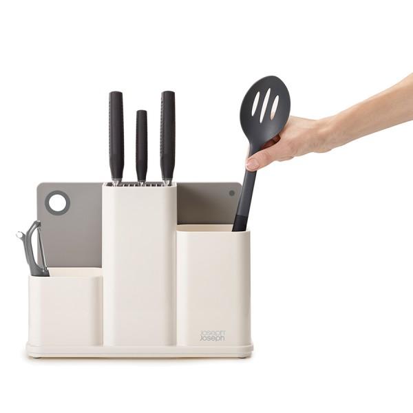 Органайзер для кухонной утвари настольный Counter Store белый