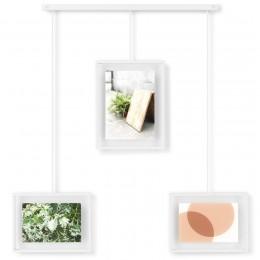 Панно для фотографий Exhibit с 3 рамками белое