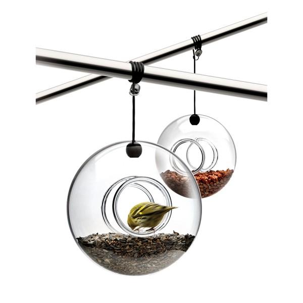 Кормушка для птиц стеклянная 20 см
