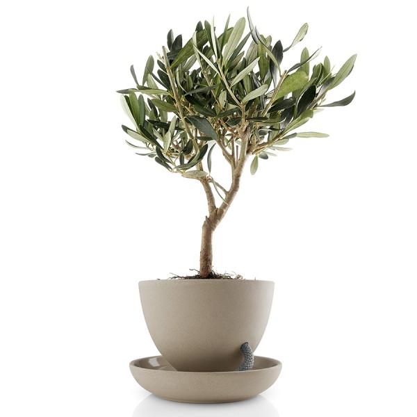Горшок для растений с функцией самополива D15 песочный
