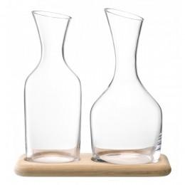 Набор из кувшинов для вина и воды на деревянной подставке LSA 1.2 л/1.4 л
